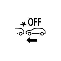 Warning light to indicate a fault or non-availability of active emergency braking